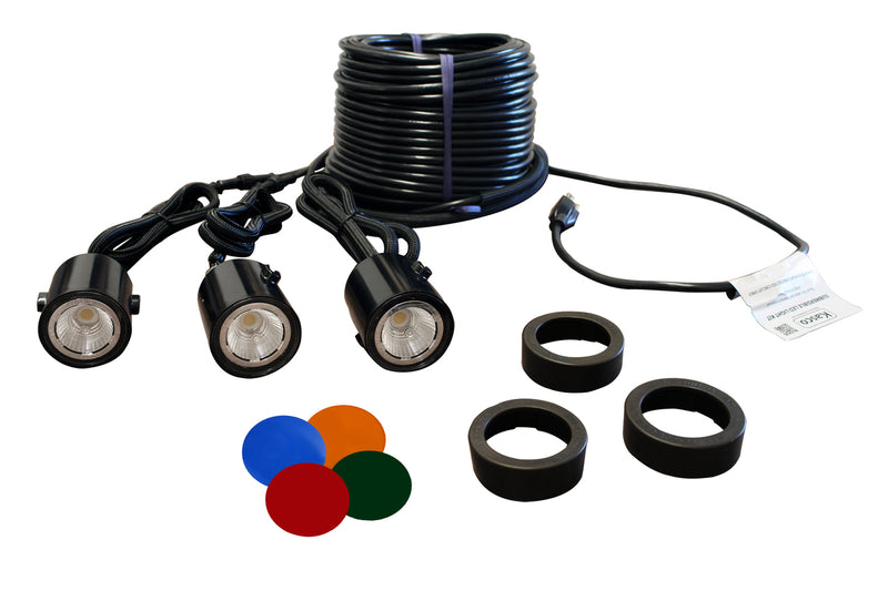 Kasco Marine LED3C11-100 LED Light kit, 3 fixtures, w/100ft Cord