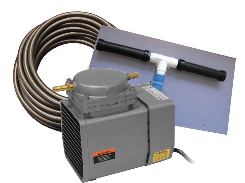 EasyPro PA12W Pond Aeration System 1/8 HP Kit w/Quick Sink Tubing