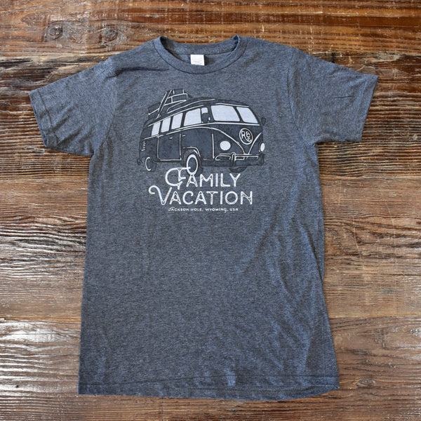 Family Vacation Tee - Unisex Charcoal Grey