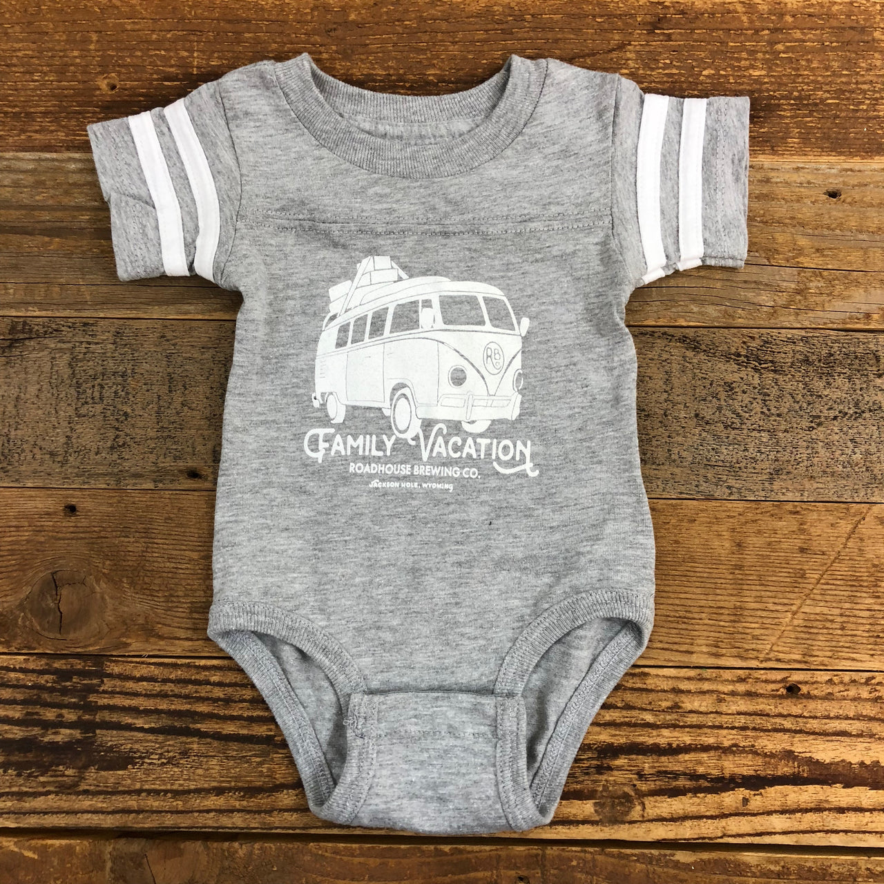 The Family Vacation Onesie - Heather Grey