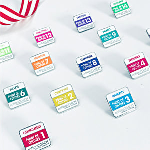 Set of 14 Points of Culture Pins