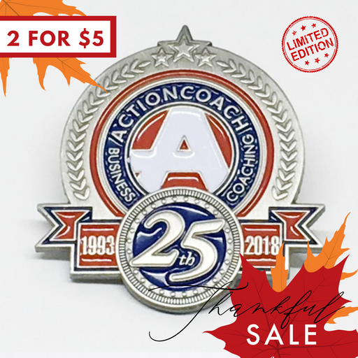 (2 FOR $5) 25th Anniversary Pin SALE!!! *Limited Edition*