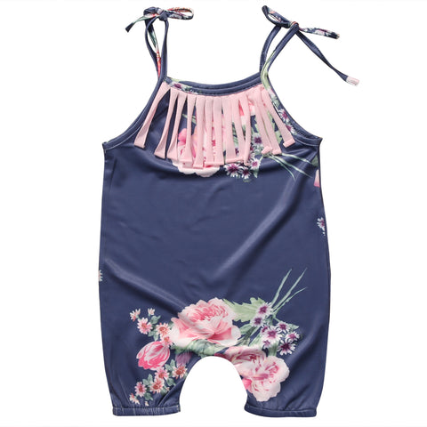 Casual Floral Romper - Present Baby | clothes, rompers, bibs, shoes, blankets, dresses & more