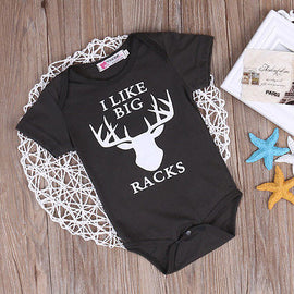 I Like Big Racks Romper - Present Baby | clothes, rompers, bibs, shoes, blankets, dresses & more