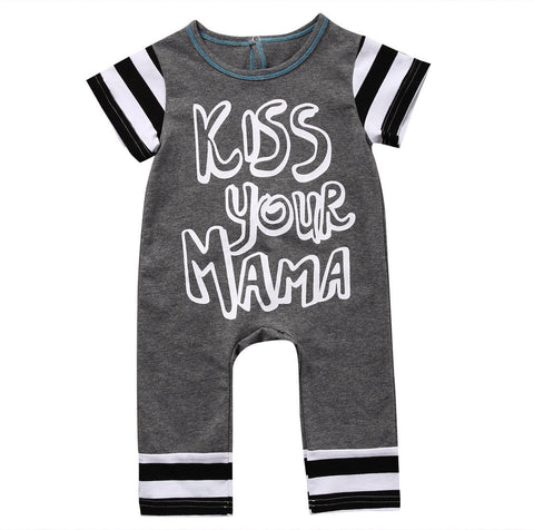 Kiss Your Mama Romper - Present Baby | clothes, rompers, bibs, shoes, blankets, dresses & more