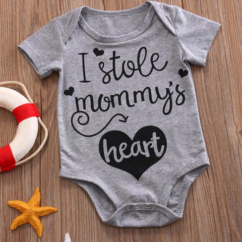 I Stole Mummy's Heart Romper - Present Baby | clothes, rompers, bibs, shoes, blankets, dresses & more
