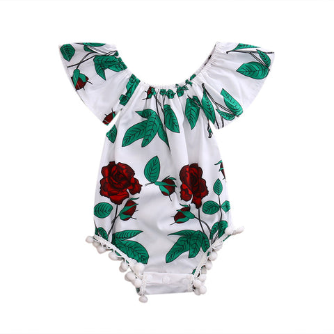 Miss Red Rose Romper - Present Baby | clothes, rompers, bibs, shoes, blankets, dresses & more