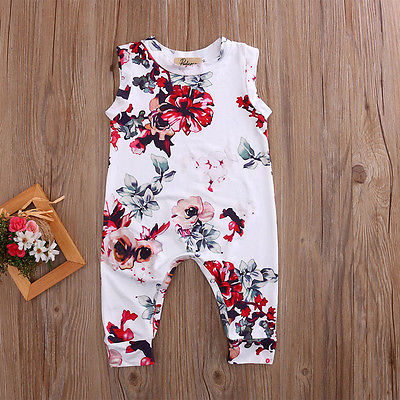 Hibiscus Floral Romper - Present Baby | clothes, rompers, bibs, shoes, blankets, dresses & more