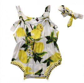 Summer Lemon Romper - Present Baby | clothes, rompers, bibs, shoes, blankets, dresses & more