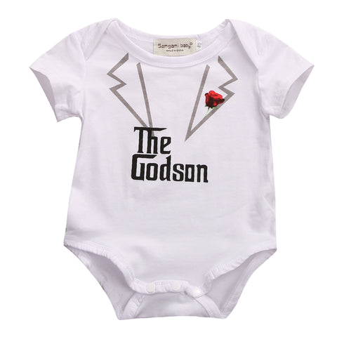 The Godson Godfather Romper - Present Baby | clothes, rompers, bibs, shoes, blankets, dresses & more
