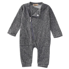 Zip Up Cotton Romper - Present Baby | clothes, rompers, bibs, shoes, blankets, dresses & more