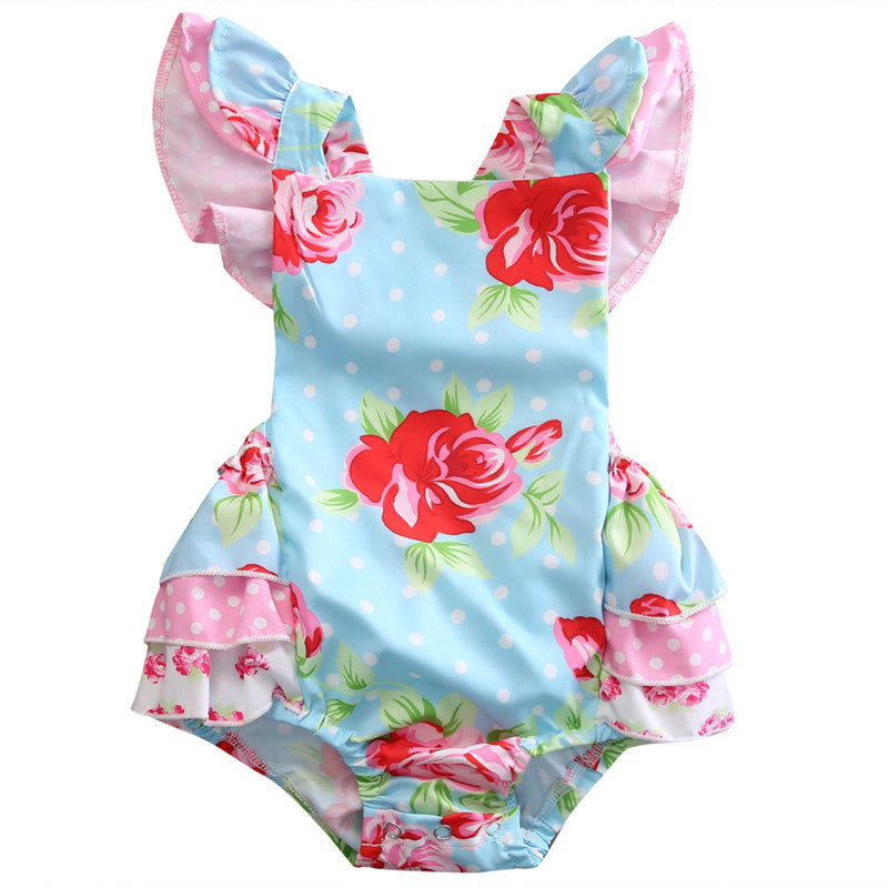 Pastel Garden Romper - Present Baby | clothes, rompers, bibs, shoes, blankets, dresses & more