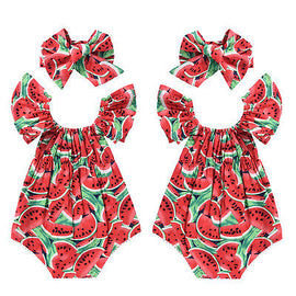 Watermelon Baby Romper - Present Baby | clothes, rompers, bibs, shoes, blankets, dresses & more
