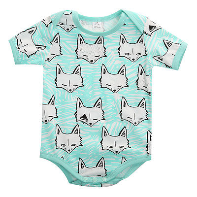 Pastel Fox Romper - Present Baby | clothes, rompers, bibs, shoes, blankets, dresses & more