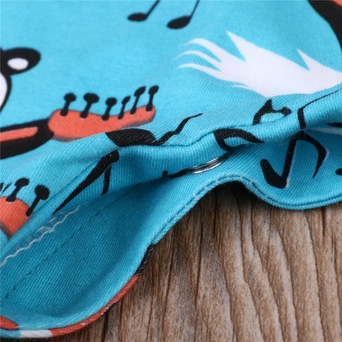 Musical Guitar Bear Romper - Present Baby | clothes, rompers, bibs, shoes, blankets, dresses & more