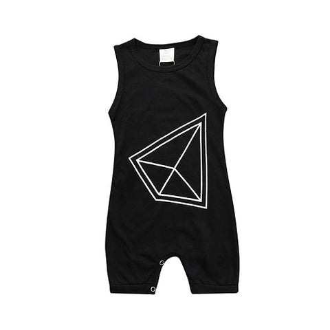 Geometric Pyramid Romper - Present Baby | clothes, rompers, bibs, shoes, blankets, dresses & more