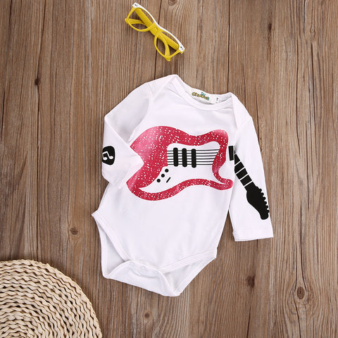 The Guitarist Romper - Present Baby | clothes, rompers, bibs, shoes, blankets, dresses & more