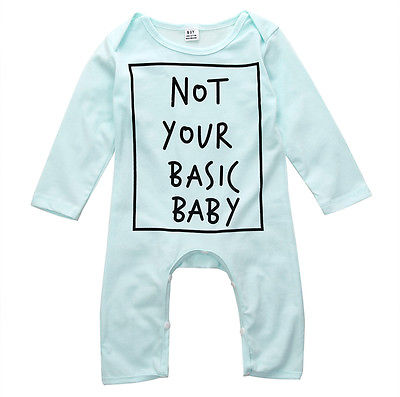 Not Your Basic Baby Romper - Present Baby | clothes, rompers, bibs, shoes, blankets, dresses & more