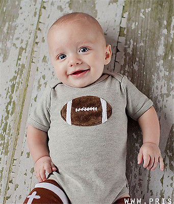 American Football Romper - Present Baby | clothes, rompers, bibs, shoes, blankets, dresses & more