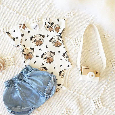 Pug Romper - Present Baby | clothes, rompers, bibs, shoes, blankets, dresses & more