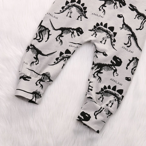 Dinosaur Print Romper - Present Baby | clothes, rompers, bibs, shoes, blankets, dresses & more