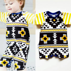 Striking Geometric Aztec Romper - Present Baby | clothes, rompers, bibs, shoes, blankets, dresses & more