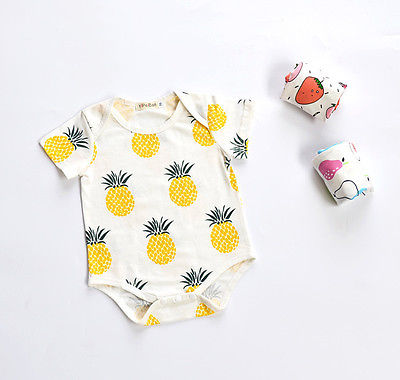 Fruity Pineapple Romper - Present Baby | clothes, rompers, bibs, shoes, blankets, dresses & more