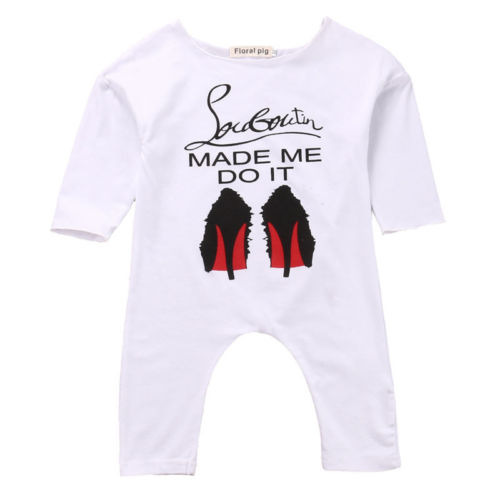 Louboutin Made Me Do It Romper - Present Baby | clothes, rompers, bibs, shoes, blankets, dresses & more