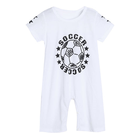 Soccer Romper - Present Baby | clothes, rompers, bibs, shoes, blankets, dresses & more