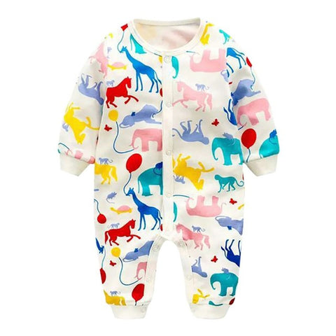 Colorful Zoo Romper - Present Baby | clothes, rompers, bibs, shoes, blankets, dresses & more