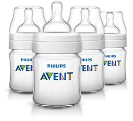 4 Pack - Philips Avent Anti-colic Baby Bottles, 4oz - Present Baby