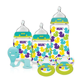3 Pack - NUK Confetti Ducks Orthodontic Bottle Bottle Set - Present Baby | clothes, rompers, bibs, shoes, blankets, dresses & more