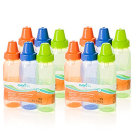 12 Pack - Evenflo Feeding Classic Twist Tinted Bottles, 8oz - Present Baby | clothes, rompers, bibs, shoes, blankets, dresses & more