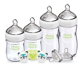 4 Pack - NUK Simply Natural Newborn Bottle Set - Present Baby
