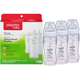 3 Pack - Playtex Baby Nurser Baby Bottle, 8oz - Present Baby | clothes, rompers, bibs, shoes, blankets, dresses & more