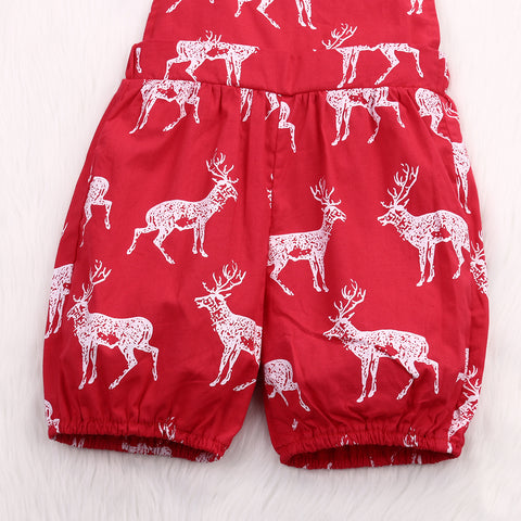Red Dear Romper - Present Baby | clothes, rompers, bibs, shoes, blankets, dresses & more