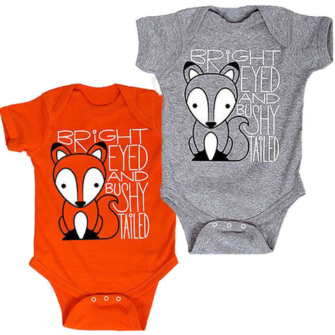 Bright Eyes and Bushy Tailed Romper - Present Baby | clothes, rompers, bibs, shoes, blankets, dresses & more