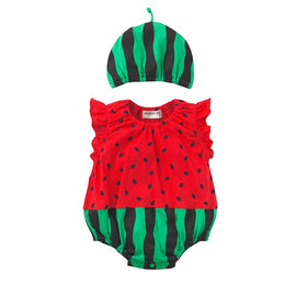 Watermelon Suit Baby Romper Set - Present Baby | clothes, rompers, bibs, shoes, blankets, dresses & more