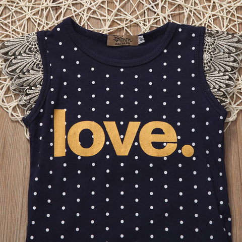 Love Polka Romper - Present Baby | clothes, rompers, bibs, shoes, blankets, dresses & more