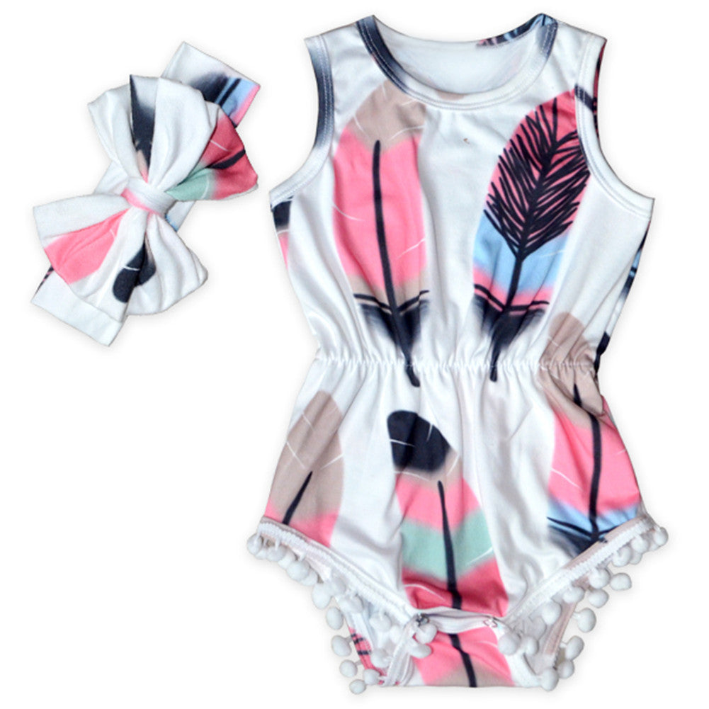 Dream Feather Romper - Present Baby | clothes, rompers, bibs, shoes, blankets, dresses & more