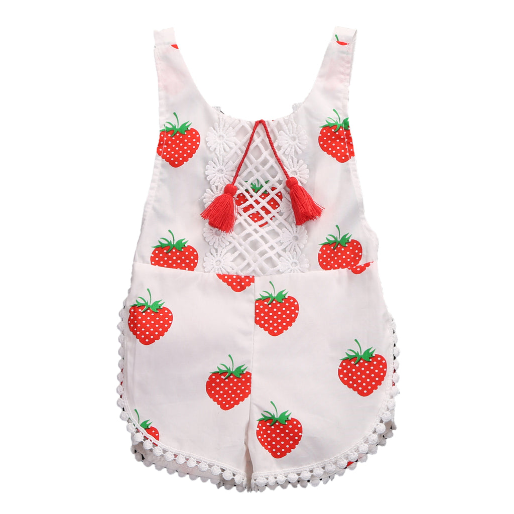 Strawberry Field Boho Romper - Present Baby | clothes, rompers, bibs, shoes, blankets, dresses & more