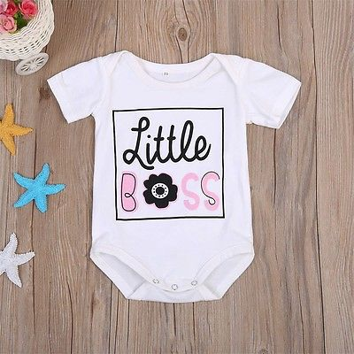 Little Boss Romper - Present Baby | clothes, rompers, bibs, shoes, blankets, dresses & more