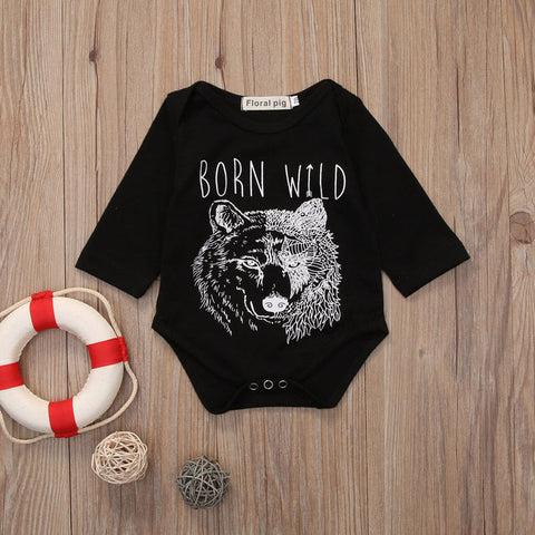 Born Wild Romper - Present Baby | clothes, rompers, bibs, shoes, blankets, dresses & more