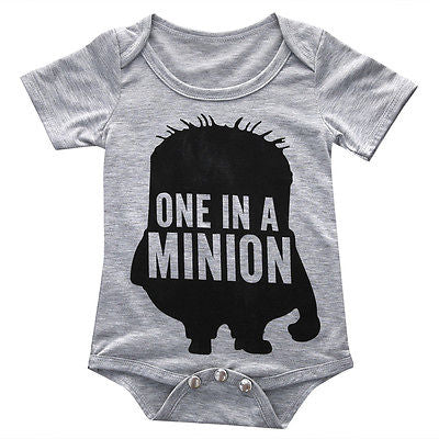 One In A Minion Romper - Present Baby | clothes, rompers, bibs, shoes, blankets, dresses & more
