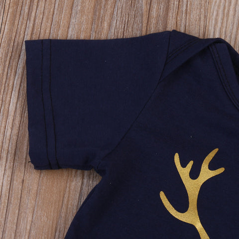 The Classy Little Man Deer Antler Romper