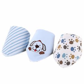 3 Pack - Blue Dog Bib Set - Present Baby | clothes, rompers, bibs, shoes, blankets, dresses & more