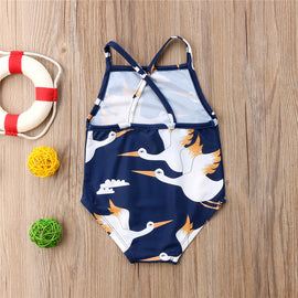 Graceful Crane Romper - Present Baby | clothes, rompers, bibs, shoes, blankets, dresses & more