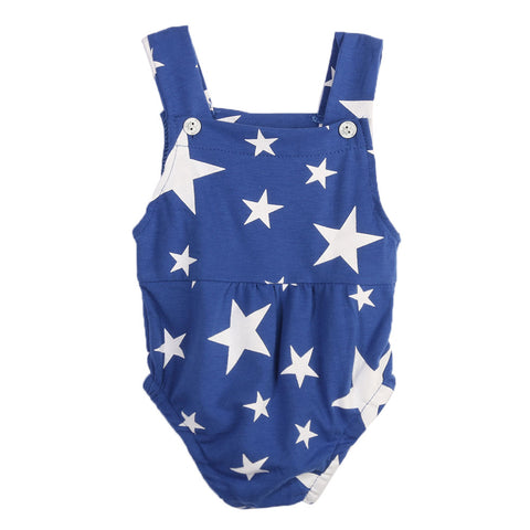 Starry Kid Button On Romper