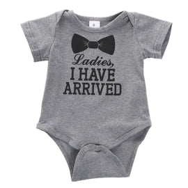 Ladies I Have Arrived Boy Romper - Present Baby | clothes, rompers, bibs, shoes, blankets, dresses & more