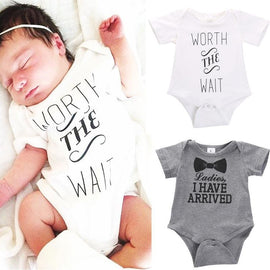 Woth The Wait Romper - Present Baby | clothes, rompers, bibs, shoes, blankets, dresses & more